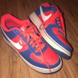 red and blue air force 1